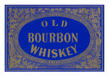 Old Bourbon Whiskey Sign Premium-giclée-vedos