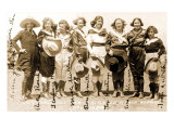 Seven Cowgirls Print