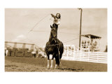 Little Cowgirl Trick Roping Posters