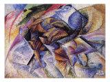 The Dynamism of a Cyclist Giclee-trykk av Umberto Boccioni