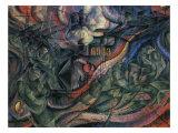 Stage of Mind: The Farewells Reproduction procédé giclée par Umberto Boccioni