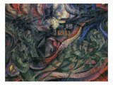 Stage of Mind: The Farewells Giclee-trykk av Umberto Boccioni