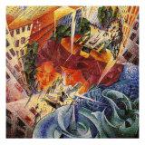 Simultaneous Visions Reproduction procédé giclée par Umberto Boccioni