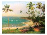 Tropical Coastline Lámina giclée prémium por Karen Dupré
