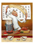 Chinese Noodle Chef Giclee Print by John Howard