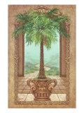 Klassischer Palmenbaum Giclée-Premiumdruck von Janet Kruskamp