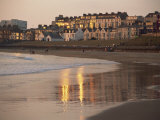 Dusk Light on the Beach at Portrush, County Antrim, Ulster, Northern Ireland, United Kingdom Reproduction photographique par Charles Bowman