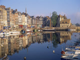 Reflections of Houses and Boats in the Old Harbour at Honfleur, Basse Normandie, France, Europe Photographic Print by Richard Ashworth