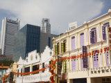 Old Traditional Shophouses, Chinatown, Outram, Singapore, Southeast Asia Reproduction photographique par Pearl Bucknall