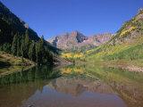 Maroon Bells, Aspen, Colorado, United States of America, North America Reproduction photographique par Jean Brooks