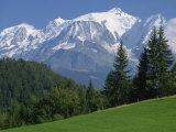 Mont Blanc, Haute Savoie, Rhone Alpes, Mountains of the French Alps, France, Europe Reproduction photographique par Michael Busselle