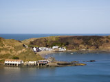 Porth Dinllaen Village of White Cottages, Lleyn Peninsula, Morfa Nefyn, Gwynedd, North Wales, UK Reproduction photographique par Pearl Bucknall