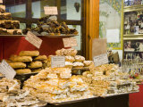 Window Display of Traditional Torrone, Cakes and Pastries, Taormina, Sicily, Italy, Europe Fotografisk tryk af Martin Child