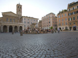Santa Maria in Trastevere Square,Trastevere, Rome, Lazio, Italy, Europe Impressão fotográfica por Marco Cristofori