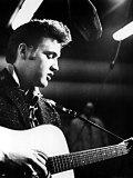 Elvis Presley, Recording in the Studio, June, 1956 Foto