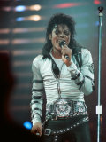 Michael Jackson Performing on Stage at Wembley During the Bad Concert Tour, July 14, 1997 Fotografie-Druck