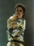 Michael Jackson on Stage at Sheffield, July 10, 1997 Reproduction photographique
