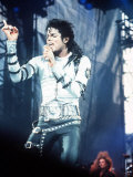 Michael Jackson in Concert at Cardiff Arms Park, 26th July 1988 Fotografisk trykk