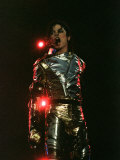 Michael Jackson Performing on Stage in Sheffield, July 10, 1997 Photographic Print
