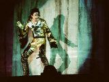 Michael Jackson on Stage in Prague, September 8, 1996 Fotografisk trykk