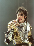 Michael Jackson on Stage at Sheffield, July 10, 1997 Photographic Print
