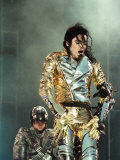 Michael Jackson Performing on Stage in Sheffield, July 10, 1997 Fotografisk trykk