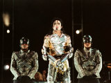 Michael Jackson on Stage in Sheffield, July 1997 Fotografisk trykk