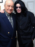 Michael Jackson at Harrods Visiting His Good Friend Mohammad Al Fayed, May 2006 Fotografisk trykk