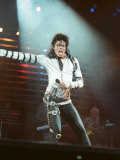 Michael Jackson Performing on Stage at Wembley During the Bad Concert Tour, July 14, 1997 Photographic Print