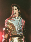 Michael Jackson Performing on Stage in Sheffield, July 10, 1997 Fotografisk tryk