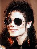 Michael Jackson Wearing Sunglasses, c.1990 Fotografisk tryk