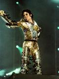 Michael Jackson on Stage in Sheffield, July 1997 Fotografie-Druck