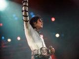 Michael Jackson Seen Here in Concert at Wembley, August 16, 1988 Fotografisk trykk