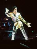 Michael Jackson on Stage in Prague, September 8, 1996 Fotografie-Druck