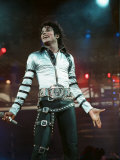Michael Jackson Seen Here in Concert at Roundhay Park. 29th July 1988 Fotografisk tryk