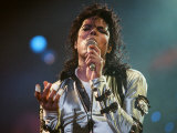 Michael Jackson Seen Here in Concert at Wembley, August 16, 1988 Reproduction photographique