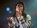 Michael Jackson Seen Here in Concert at Wembley, August 16, 1988 Fotografie-Druck