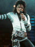 Michael Jackson in Concert at Wembley, July 15, 1988 Photographic Print