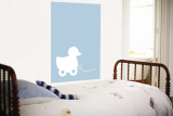 Blue Ducky Wall Mural by  Avalisa