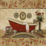 Crimson Moment II Affiche par Charlene Winter Olson