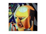 Portrait of Marinetti Plakater av Enrico Prampolini
