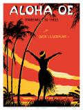 Aloha Oe, Farewell to Thee, Music Sheet, c.1930 Prints by  LeMorgan