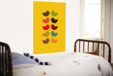Yellow Kiss Wall Mural by  Avalisa