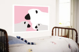 Pink Sheep Wall Mural by  Avalisa