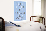 Blue Alphabet Wall Mural by  Avalisa