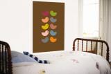 Brown Kiss Wall Mural by  Avalisa
