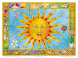 Sun and Moon Prints by Cora Yee