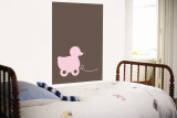 Brown Ducky Wall Mural by  Avalisa