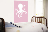 Pink Octopus Wall Mural by  Avalisa