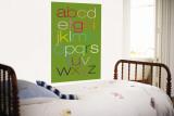 Green Rainbow Alphabet Wall Mural by  Avalisa